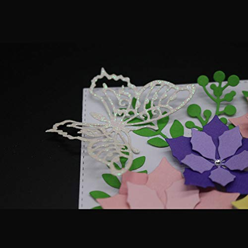 Lazzboy Fustelle Natale Scrapbooking Metallo Stencil Paper Card Craft per Sizzix Big Shot/Altre Macchine(E, Farfalle) - 7