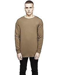Hommes 's simple en coton pour homme col rond T slim dans la partie longue de couleur solide T–pour Homme