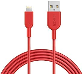 Anker Cavo Lightning PowerLine II [Certificato Apple MFi / 180 cm] Probabilmente il Cavo più Resistente al Mondo, per iPhone 7 / 7 Plus / 6 / 6 Plus / 5S Rosso