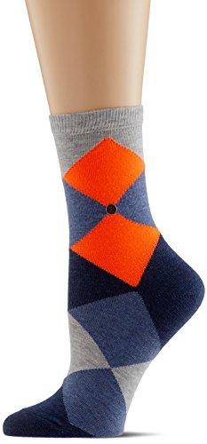 Burlington Damen Socken Neon Bonnie, Mehrfarbig (Storm Grey 3820), 36/41