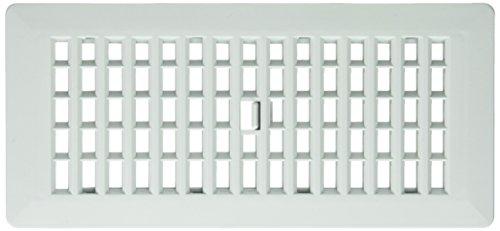 Decor Grates PL410-BN 4-Inch by 10-Inch Plastic Floor Register, Bone