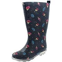 Capelli New York Girls Silver Glitter Rain Boot