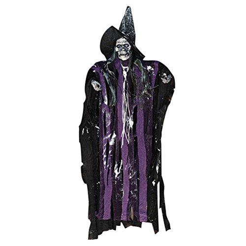 uselig beängstigend hängenden Schädel Sound Skeleton Ghost Hausgarten Hof Bar Party Supplies Spukhaus Dekoration ()