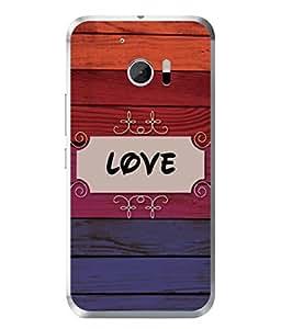 Fuson Designer Back Case Cover for HTC 10 :: HTC One M10 (Wood Lakadi Antique Fashion Beer Dark Grey )