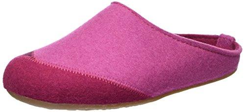 Haflinger - Everest Lasse, Pantofole Unisex – Adulto Rosa (Pink)