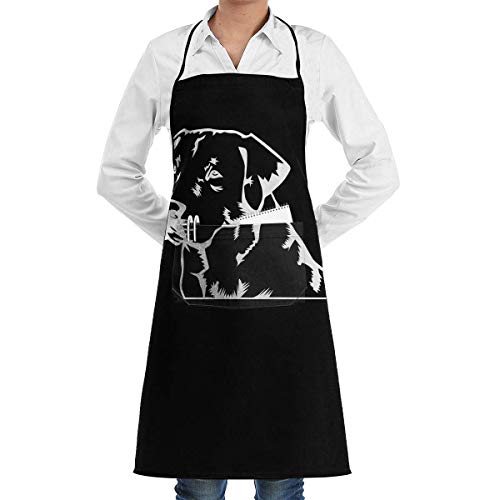 Aprons for Sale Lab Labrador Retriever Menâ€s Womenâ€s Unisex Tea Shop Kitchen Long Aprons Sleeveless Overalls Portable with Pocket for Cooking,Baking,Crafting,Gardening,BBQ