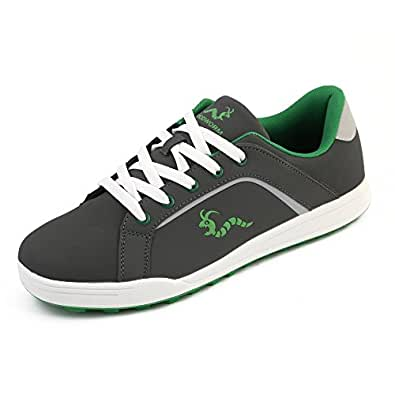 Woodworm Golf Surge V3 Mens Waterproof Golf Shoes Grey/Green Size 6
