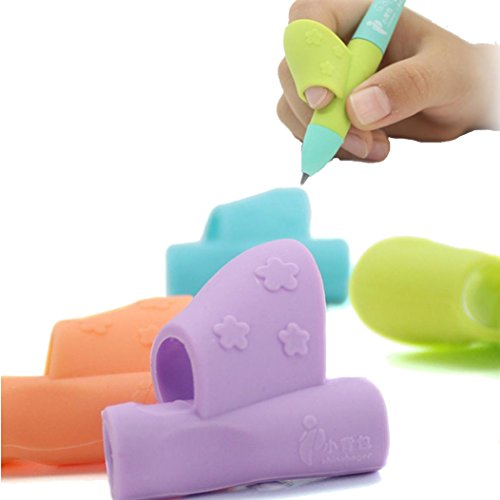 BBring Silikon Pen Bleistift Schreibhilfen Griff gripers Aids Haltung Korrektur Werkzeug für Standard Stifte KIDS Kinder aldult Ältere