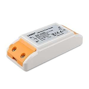 Leorx DC 12V 3A 36W Transformateur à LED à tension constante adaptateur secteur alimentation pour voyants LED (blanc + orange)