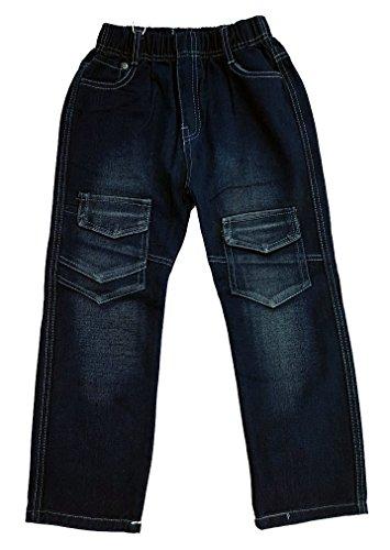 Bequeme Jeans mit rundum Gummizug in schwarz, Gr. 98, J210.2e