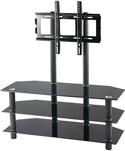 A/v-ständer Glas (Carlo Milano TV-Rack TV-530.bk für Flachbildschirme mit 32