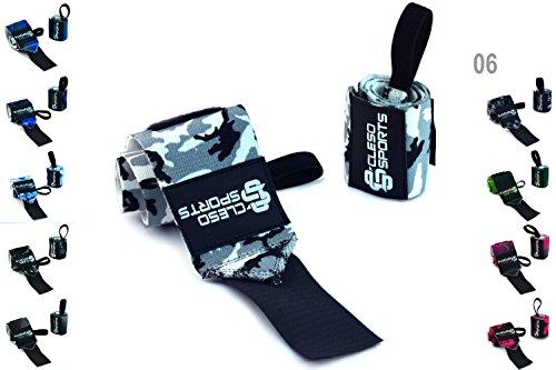 Cleso Sports Handgelenk Bandagen [Wrist Wraps] Handgelenkbandage Kraftsport, Crossfit, Bodybuilding & Fitness – [2er Set]