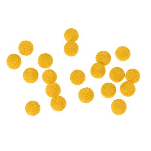 MagiDeal Boilie Box Karpfen Boilie Pop Up 8-14mm Angeln Köder Pellet Mini Mit Geschmack - Gelb-Tasteless, 8mm