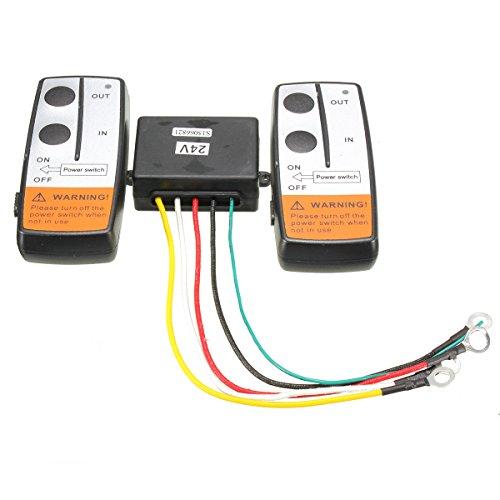 JenNiFer 24V 100Ft Wireless Remote Controller Recovery Windenkran Twin Handset Kits
