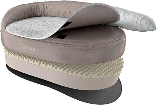 Knuffelwuff 13123 Orthopädisches Hundebett Ortho Bed Jessy - Größe S - M, 73 x 50 x 24cm, beige