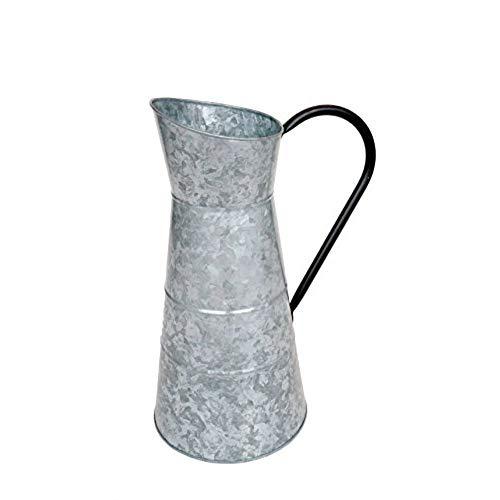 Deco 79 Bewässerungskrug, Metall, verzinkt, 25,4 x 40,6 cm - Espresso-akzent