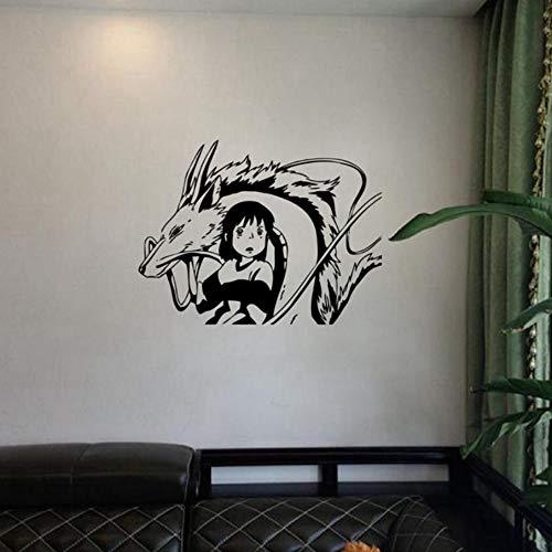 Adhesivos de pared de estilo anime japonés, vinilos decorativos, arte de pared, 76X57CM