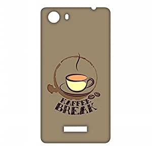RANGSTER Kaffee Break-Ophis Ophis Matte Finish Mobile Case For Micromax Unite 3 (Q372)-Light Brown