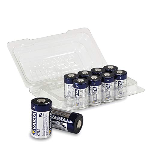 10x VARTA CR2 / CR17355 3V Lithium Batterie (6206) in praktischer Batteriebox von Weiss - More Power +