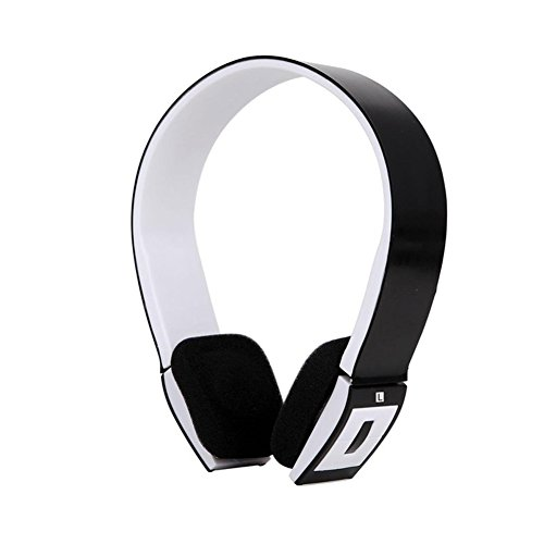 EMVANV BH23Bluetooth Headset Wireless Stereo mit Call Mikrofon/Mikrofon Over-Ear faltbar Sport Freisprechen Universal für Handy Smartphones, Schwarz - Boom Headset Handy Mobile