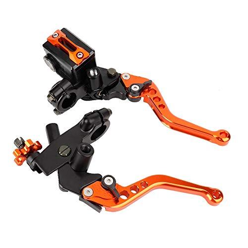 Leva freno moto, 1 paio da 7/8'(22mm) Olio per impugnatura moto universale Leva freno Frizione Pompa frizione (arancione)