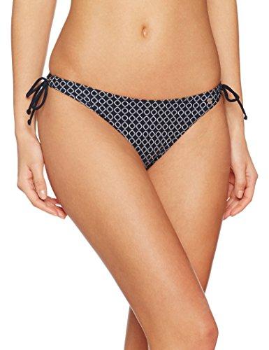 Marc O'Polo Body & Beach Damen Bikinihose Beach Bikini Slip, Schwarz (Blauschwarz 001), 38 (038)