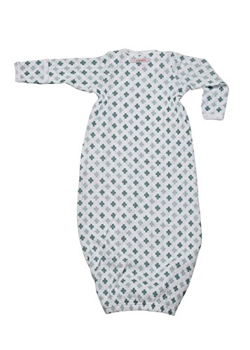 Lodger escandinavo impresión recién nacido saco de dormir (verde)