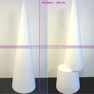 Grand Cône XL 105 cm, Présentoir géant polystyrène pro haute densité, 25 kg/ m3