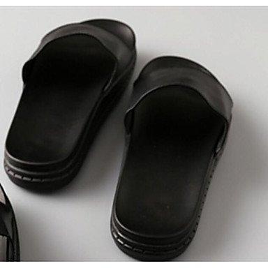 Les femme's Chaussons &AMP; Tong Confort ressort plat noir occasionnel de PU US5 / EU35 / UK3 / CN34