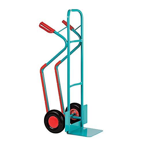 Stapelkarre Ameise, Stahl mit Gleitkufen, Tragkraft bis 250 kg, Luft-Bereifung - Transportieren leicht gemacht