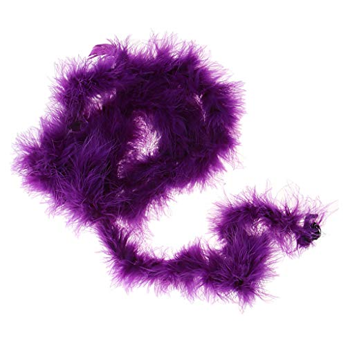 P Prettyia Piume di Tacchino Spongioso Lussuoso di 2 Iarde di Boa Colors per Festa di Compleanno - Viola