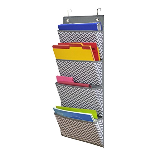 Aufbewahrungstasche Diagramm von Godery, 4 Tasche hängen Wand Datei Veranstalter - organisieren Sie Ihre Aufgaben, Dateien, Gästebuch Papiere & mehr (4 Pocket Organizer Mail)