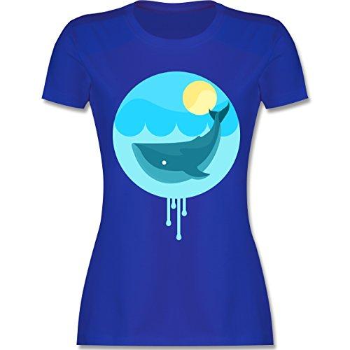 Sonstige Tiere - Wal - tailliertes Premium T-Shirt mit Rundhalsausschnitt für Damen Royalblau