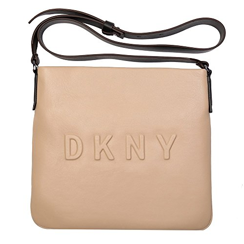 Dkny Debossed Logo Femme Cross Body Bag Nude Nude
