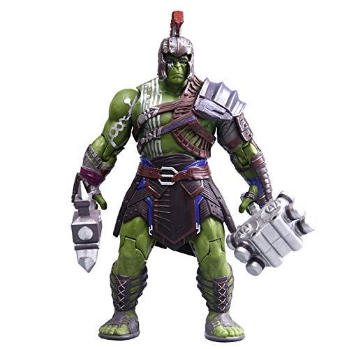 Gladiador Hulk | Muñeca Movible | Marvel Raytheon 3 | Modelo De Juguete Para Niños | Muñeca Marvel Hero,Green-20cm