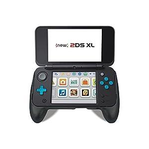 Neuer Nintendo 2DS XL 2017 Griffgriff mit Ständer (schwarz)