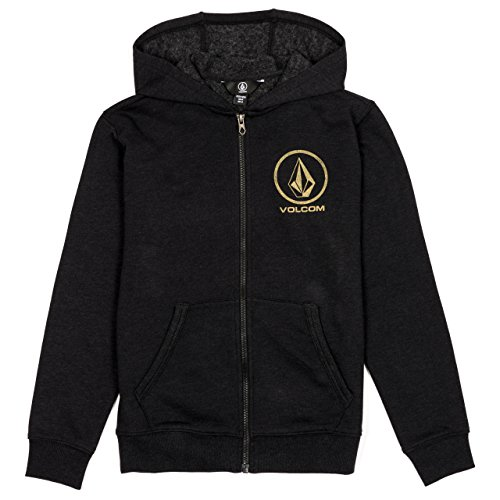 Volcom Faded Stone Zip Fleece Kids Hood Black M