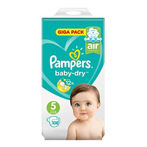 Pampers Baby Dry Size 5 Giga Pack 108 Super Value Monthly Premium Protection Family Perfect Fit Pannolini per il vostro Attivo Completo di Aetn Toddlers guida eBook alimenti fatti in casa