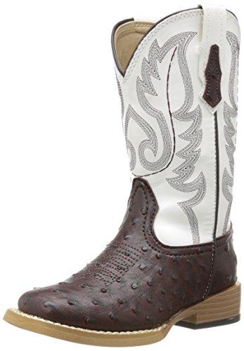 Roper Square Toe Faux Ostrich Western Boot -