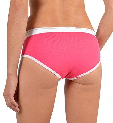 Coole Mädchen Sprüche Damenunterwäsche : Damen Shorty 2 Stück Mitte vorne Motiv Closed - Boyfriend Style Farbe: rosa Rosa