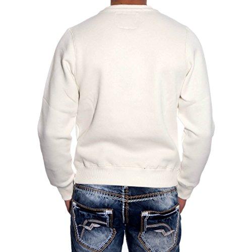 R-NEAL Kapuzenpullover 19455 Kapuze Sweatshirt Sweatjacke Pullover Shirt Sweats Weiß