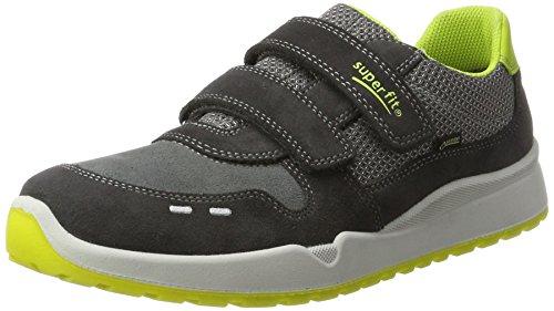 Superfit Jungen Strider Sneaker, Grau (Charcoal Kombi), 35 EU