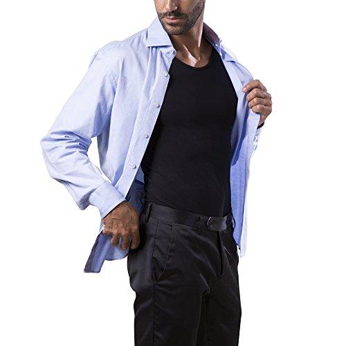 Dr.Walt - Herren Unterhemd tank top mit Sport technischen Garnen für die täglichen Gebrauch, thermische, ultraleicht und bakteriostatisch, ohne Nähte und unsichtbar unter dem Hemd oder die Polos. Schwarz