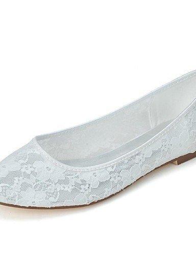 Shangyi scarpe da sposa - ballerine - punta arrotondata - matrimonio / serata e festa - nero / avorio / rosa / bianco - da donna , pink-us7.5 / eu38 / uk5.5 / cn38 , pink-us7.5 / eu38 / uk5.5 / cn38