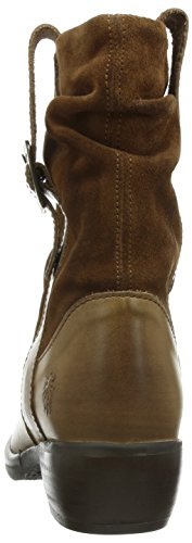 FLY London Maha, Bottes Motardes femme Marron - Braun (Camel 005)
