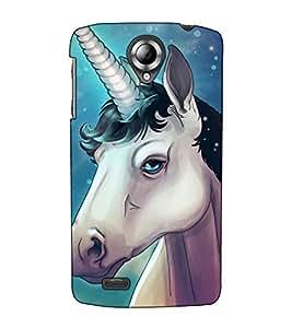 Fuson Designer Back Case Cover for Lenovo S820 (A horse with horn )