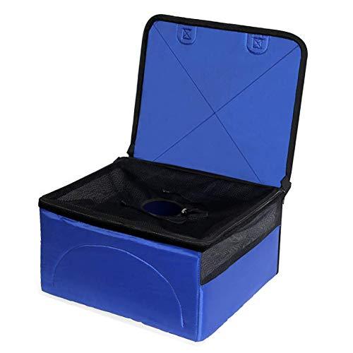 Auto-Booster-Sitz Für PET, Verstärkung Deckt Schutz Korb Reise Käfig Tasche Mit Sicherheit Abnehmbare Maschen Oberfläche Speicher Tasche Wasserdicht Atmungsaktiv Für Den Hund,Blue