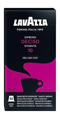 Lavazza Espresso Deciso, 50 Nespresso kompatible Kapseln (5 x 10 Kapseln)