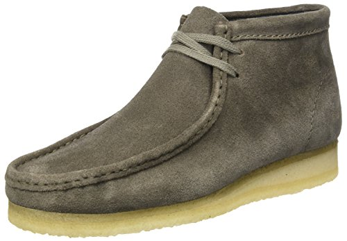 Clarks originals wallabee boot, mocassini uomo, grigio (grey suede), 42 eu