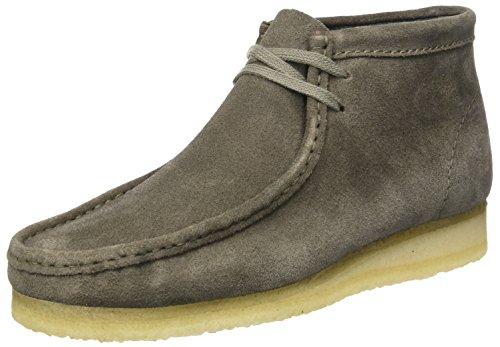 Clarks Originals Herren Wallabee Boot Mokassin, Grau (Grey Suede), 44 EU (Clarks-herren-desert Schuhe)